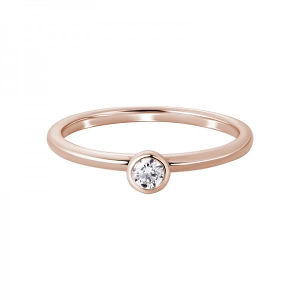 14KR Round Diamond Ring