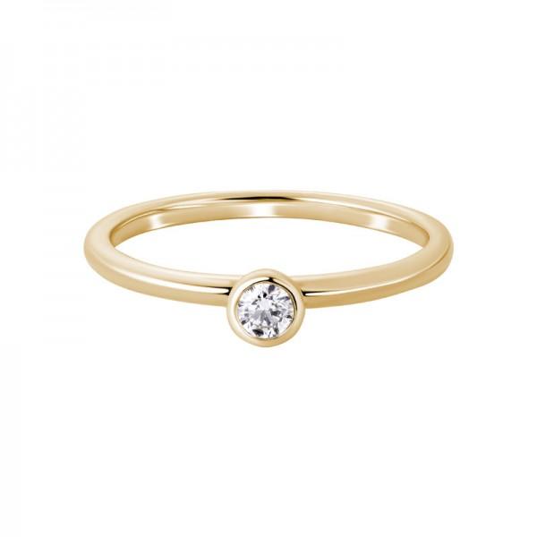 14KY Round Diamond Ring
