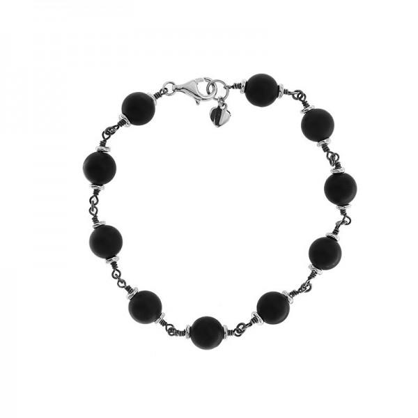 925 Sterling Silver and Onyx Bracelet