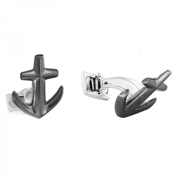 Silver Anchor Cuff Link
