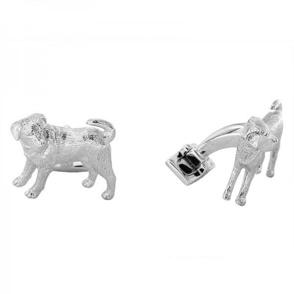 Silver Dog Cuff Link