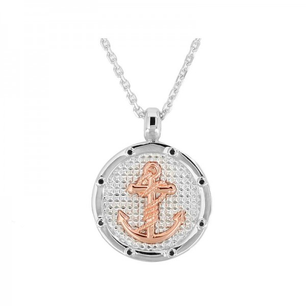 Silver Black Sapphire Necklace