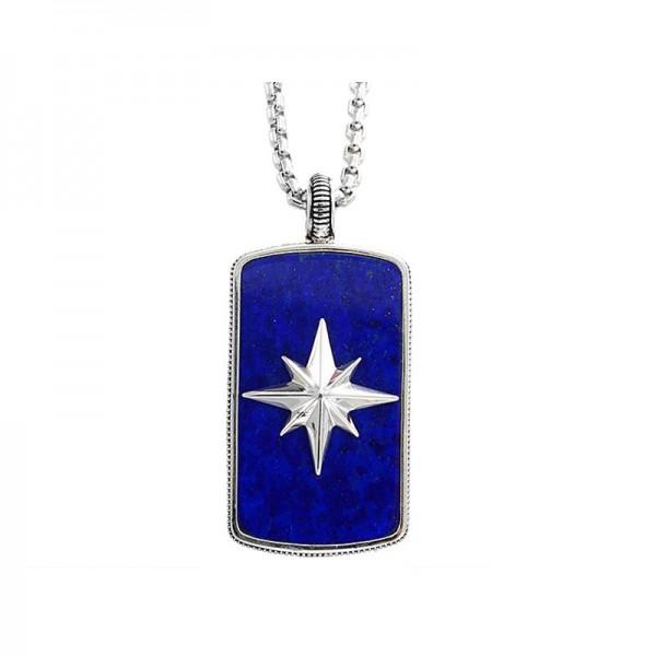 Silver Lapis Lazuli Pendant