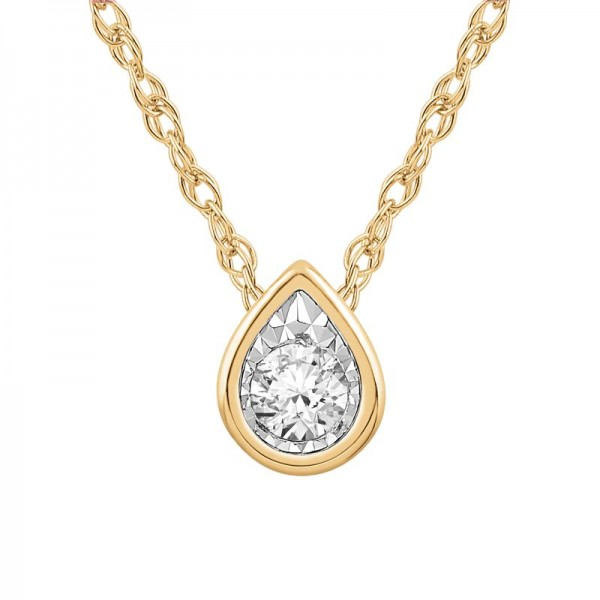 Lady's Yellow 10 Karat Bezel Pendant