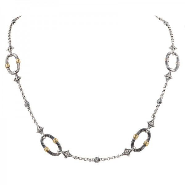 Women's Sterling Silver and 18K Gold Necklace