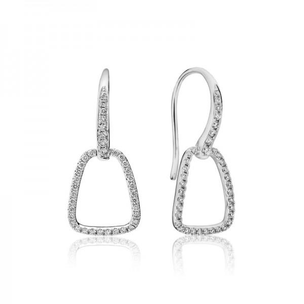 14KW Artichoke-Hook Diamond Earrings
