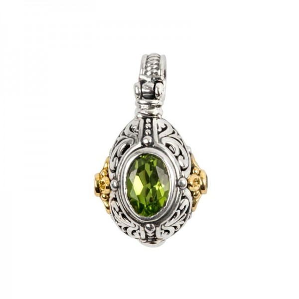 Women's Sterling and 18KY Peridot Pendant