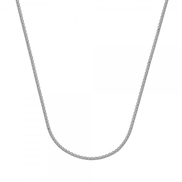 Sterling Silver Round Wheat Chain 16