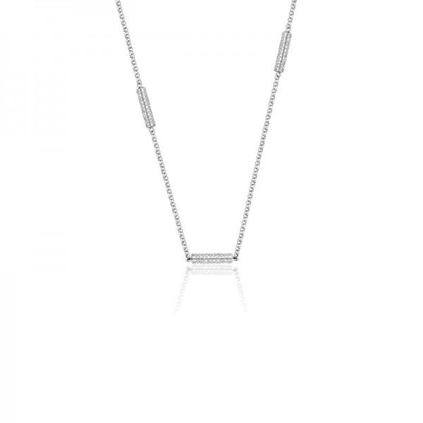 Luvente Diamond Bar Station Necklace