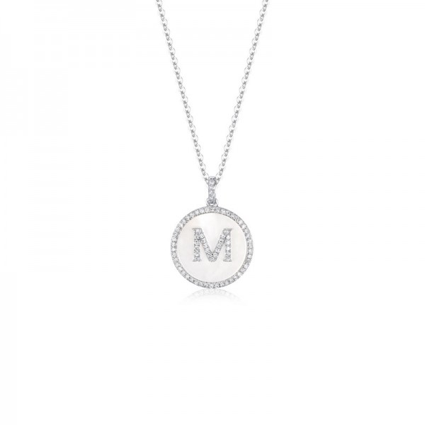 Luvente Mother of Pearl and Diamond Initial