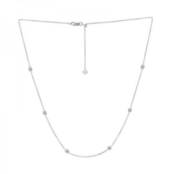 Luvente Diamond Station Necklace