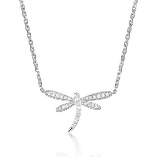 Luvente Diamond Dragonfly Necklace