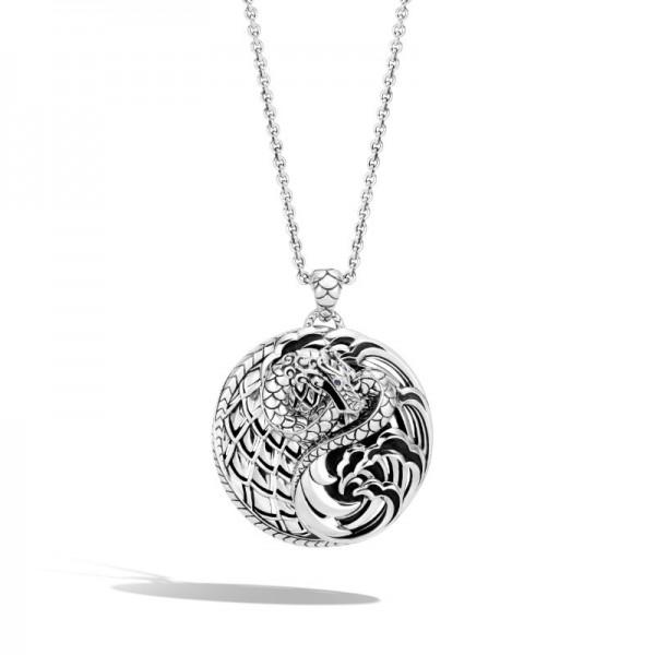 Legends Naga Pendant Necklace in Silver