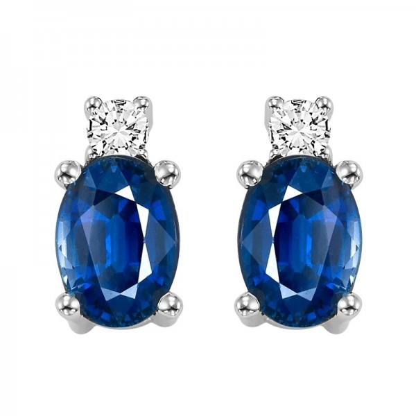 14kw sapphire and diamond earrings
