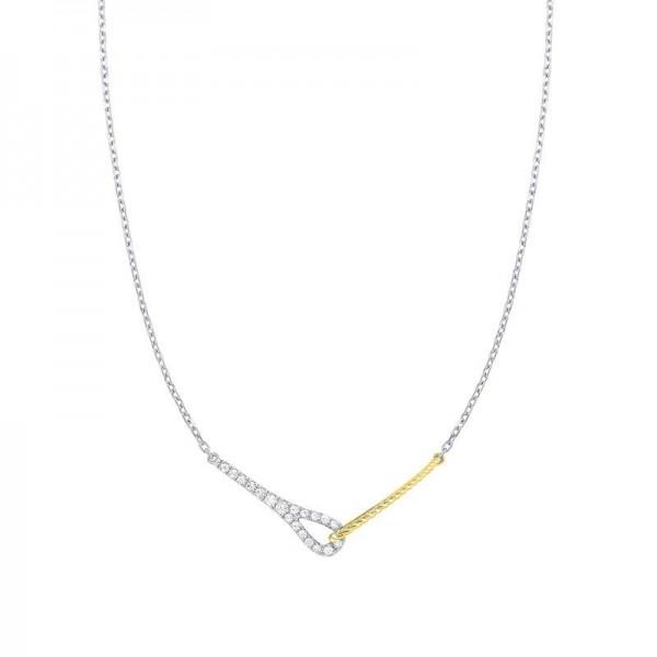 Lady's 14K Two Tone Diamond Necklace