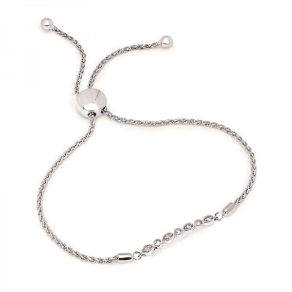 SS Diamond Bolo Bracelet