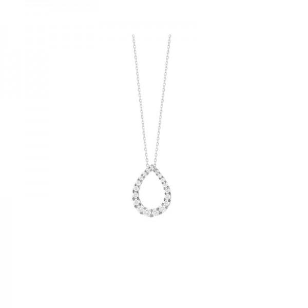 14KW Tear Drop Diamond Pendant