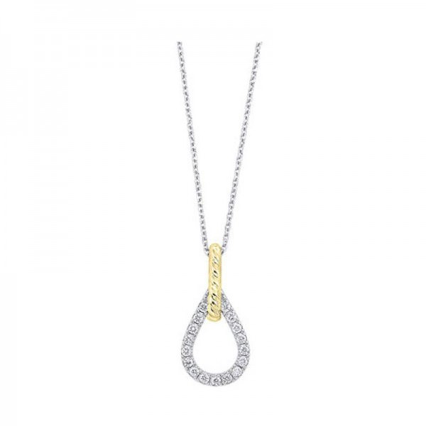 14K White GoldY Diamond Pendant