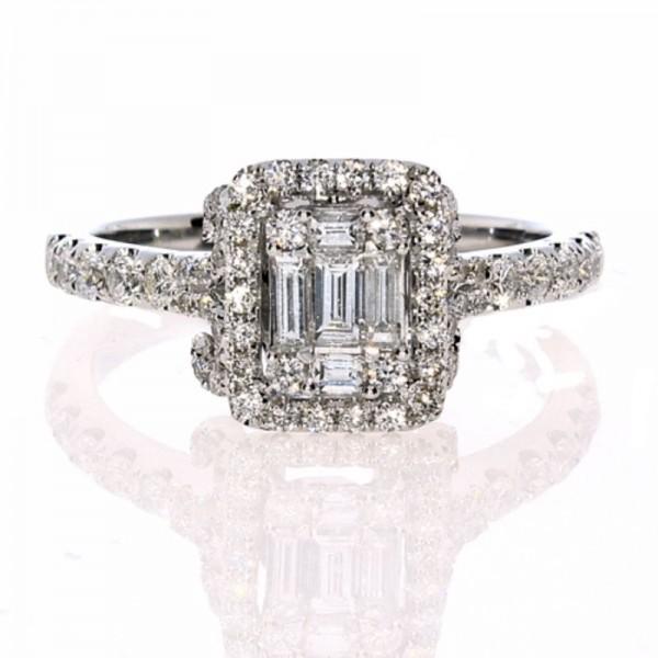 18KR Diamond Engagement Ring