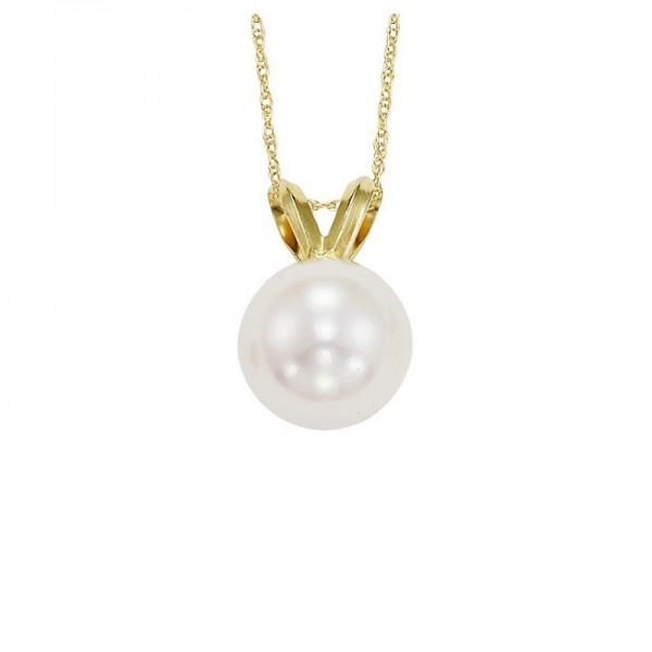14ky 5.5mm pearl drop on chain