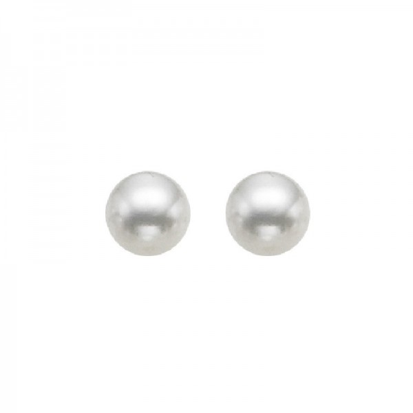 Lady's 14KW Gold Cultured Pearl Studs