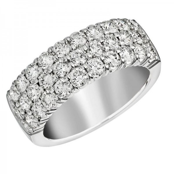 18KW 1.00ctw Diamond Fashion Ring