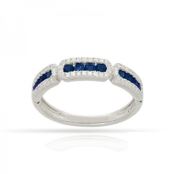 Luvente Sapphire and Diamond Ring