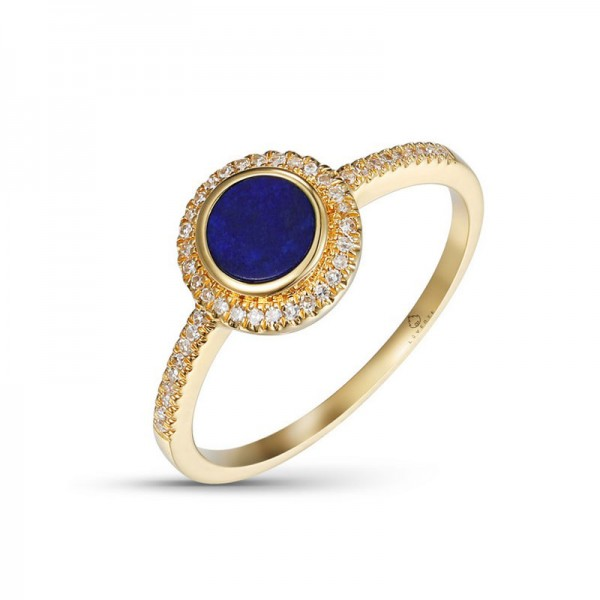 Luvente Lapis and Diamond Ring