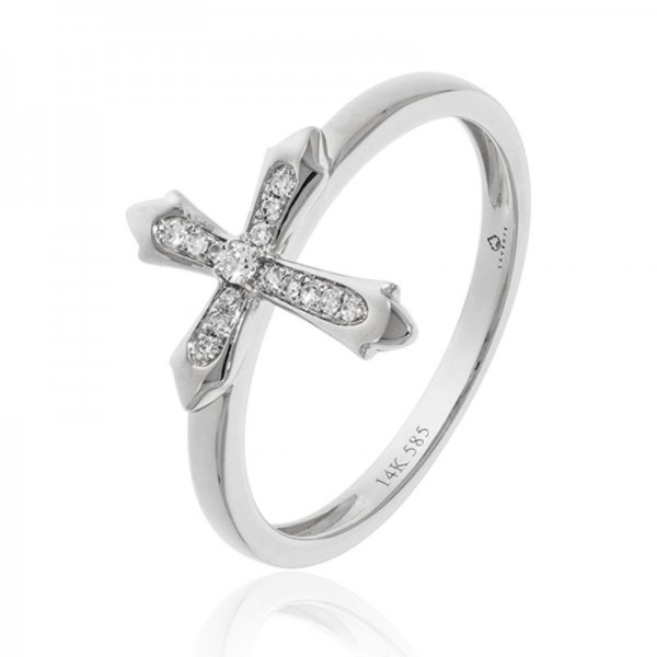 Luvente Diamond Cross Ring