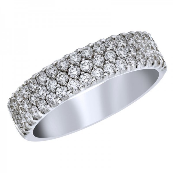 18KW .84ctw Diamond Fashion Ring
