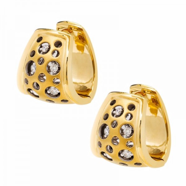 Mirror Collection Huggie Earrings
