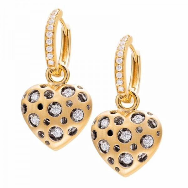 Mirror Collection Heart Drop Earrings
