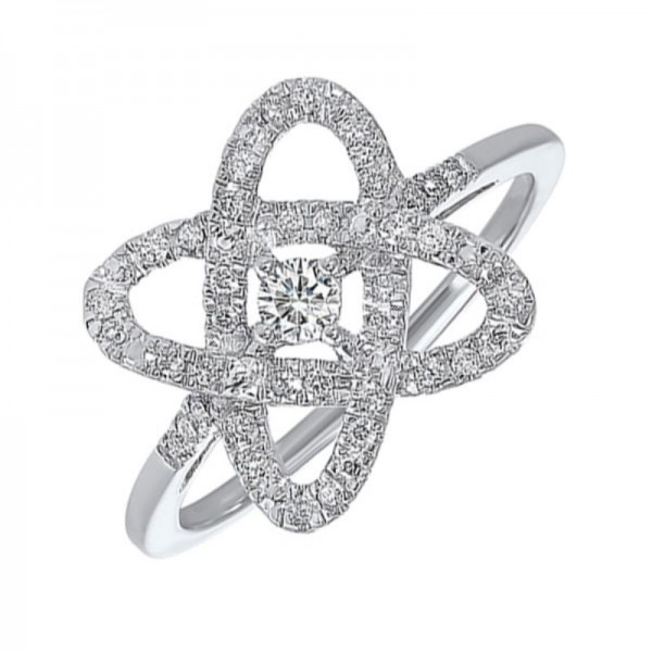 Sterling Love's Crossing Diamond Ring