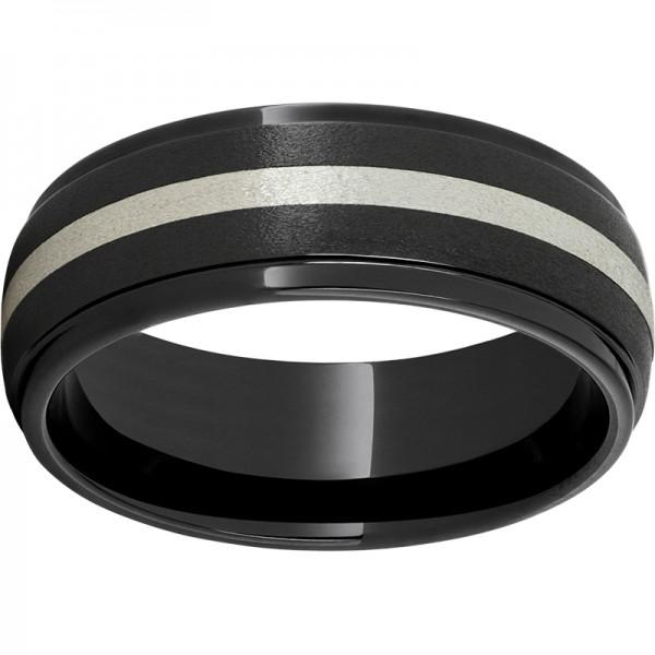 Black Diamond Ceramic Domed Band