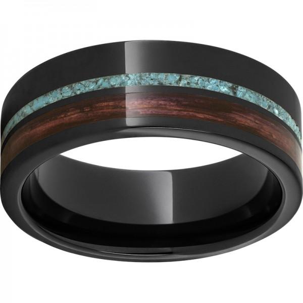 Black Ceramic Pipe Cut Band