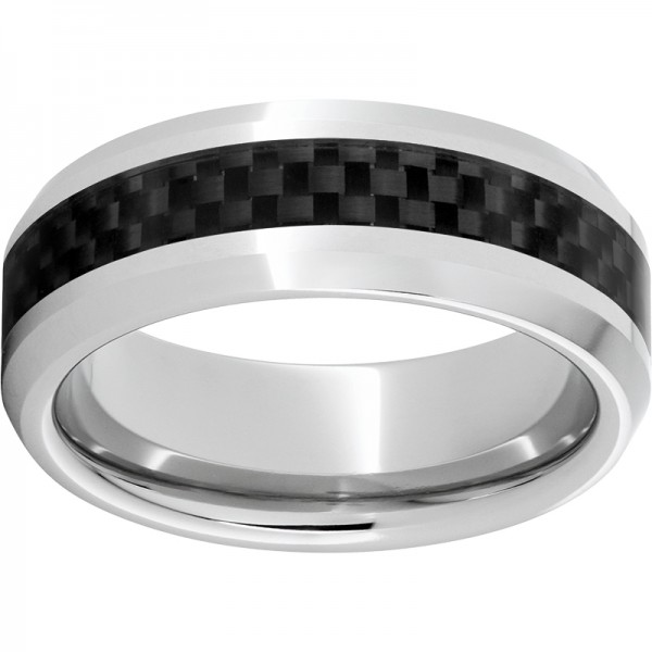 Serinium® Beveled Black Carbon Fiber Band