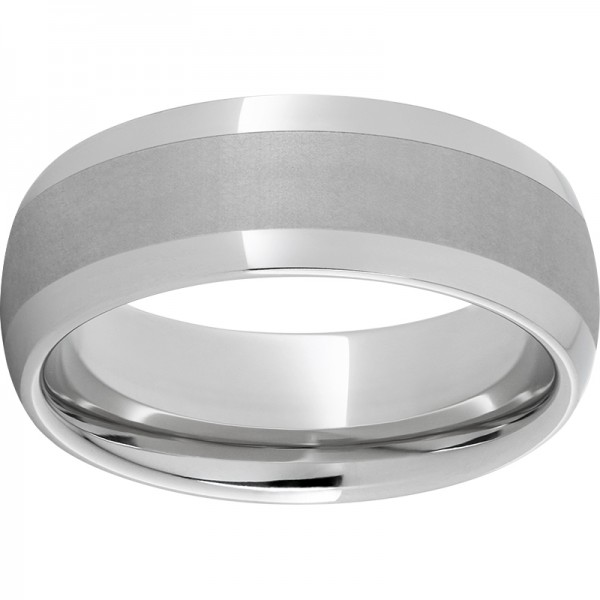 Serinium® Domed Satin Center Band