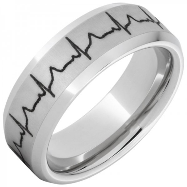 Serinium® Heartbeat Beveled Edge Band