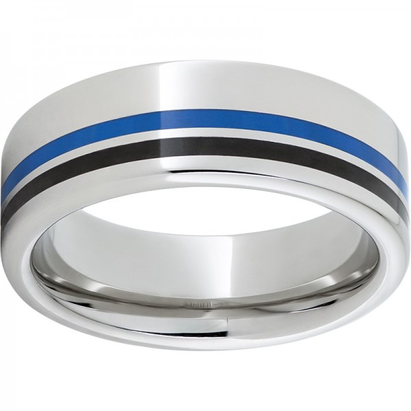 Serinium® Blue Enamel Band