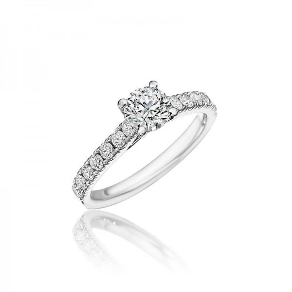 14KW Diamond Engagement Ring