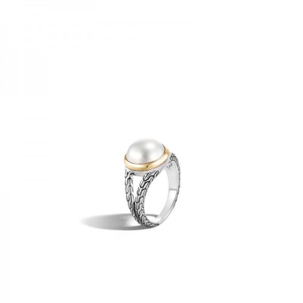 Pearl Split Band Ring
