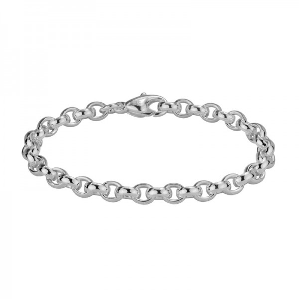 Sterling Silver Oval Cable Bracelet