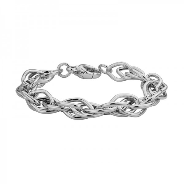 Silver Marquise Link Bracelet