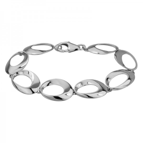 Sterling Silver Bracelet Oval Links