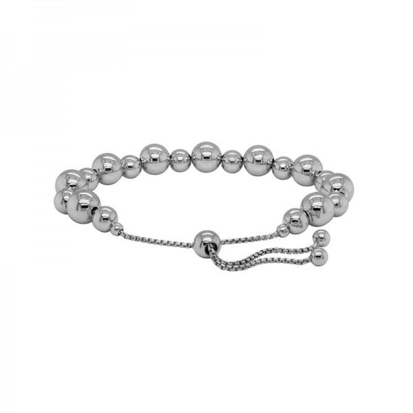 Sterling Silver Sliding Beads Bracelet