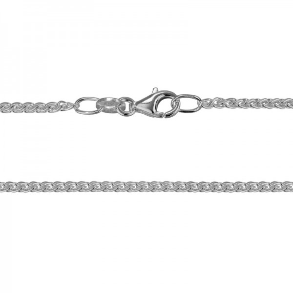 Sterling Silver Wheat Chain 18