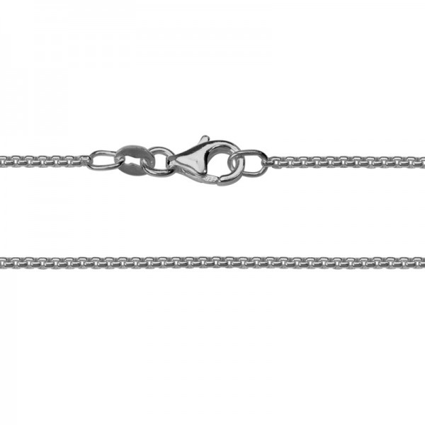Sterling Silver Half Round Box Chain 24