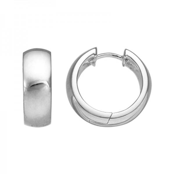 Silver Hinged Hoop Earrings