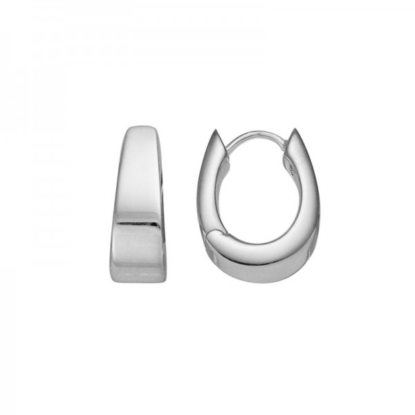 Sterling Silver Tapered Hoop Earrings
