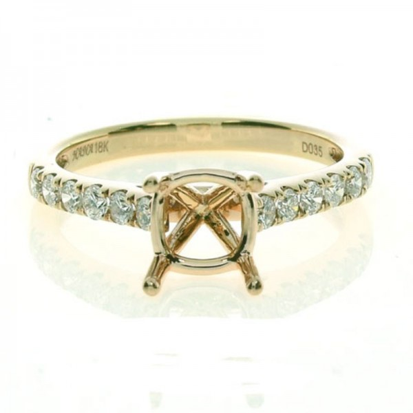 18KR Diamond Semi-Mount Engagement Ring